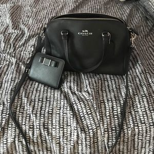 Coach Black Crossbody and Matching Wallet